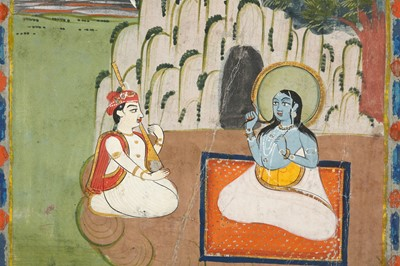 Lot 38 - A SHAIVITE SADHU VISITED BY A VEENA PLAYER