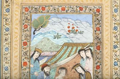 Lot 46 - A MANUSCRIPT ILLUSTRATION: THE ENCOUNTER OF LAYLA AND MAJNUN