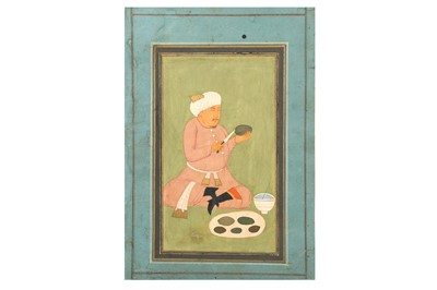 Lot 47 - FOUR INDO-PERSIAN AND MUGHAL-REVIVAL PAINTINGS