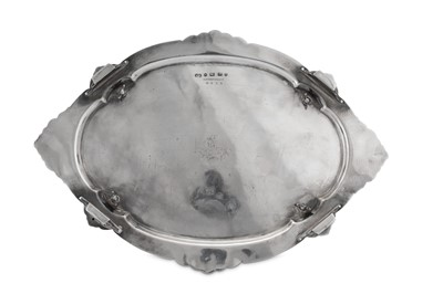 Lot 483 - A large Victorian sterling silver eight bottle cruet, Birmingham 1888 by Elkington and Co