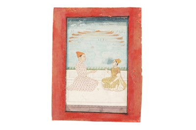 Lot 56 - A RULER BEING OFFERED PAAN BY A COURTLY LADY