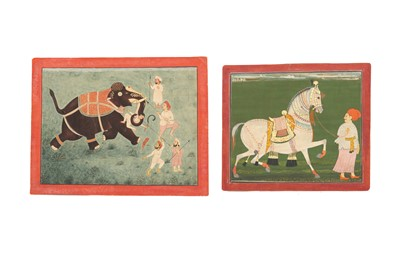 Lot 57 - TWO INDIAN SPORTING SCENES
