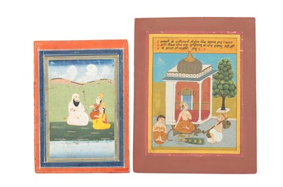 Lot 58 - TWO OUTDOOR SCENES WITH ASCETICS