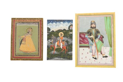 Lot 62 - THREE PORTRAITS OF INDIAN RULERS