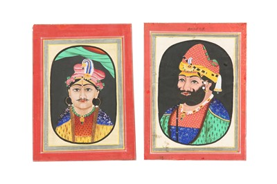 Lot 64 - TWO OVAL PORTRAITS OF INDIAN RULERS
