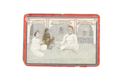 Lot 65 - A SHRI NATHJI PUJA IN A COURTLY INTERIOR