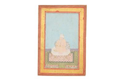 Lot 67 - A SEATED PORTRAIT OF NIZAMUDDIN AULIYA, MAJOR SUFI SAINT OF THE CHISHTI ORDER