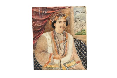 Lot 68 - λ AN IVORY PORTRAIT OF MAHARAJA BAHADUR SRI SIR ISHWARI PRASAD NARAYAN SINGH (1822 - 1889)