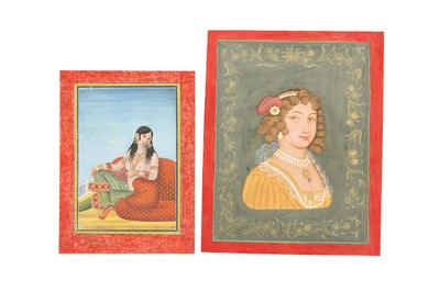 Lot 69 - TWO PORTRAITS OF COURTLY LADIES