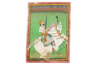 Lot 75 - TEN EQUESTRIAN PORTRAITS OF INDIAN RULERS