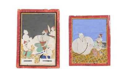 Lot 77 - TWO PAINTINGS OF JHALA ZALIM SINGH (1730 - 1823) AND MAHARAO UMED SINGH (R. 1771-1819)