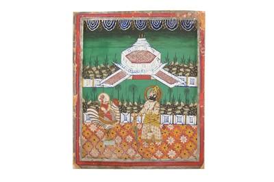 Lot 82 - MAHARAJA TAKHT SINGH OF JODHPUR PAYING RESPECT TO BAHUCHARA MATA