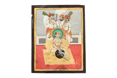 Lot 83 - A SEATED PORTRAIT OF A YOUNG MAHARAJA
