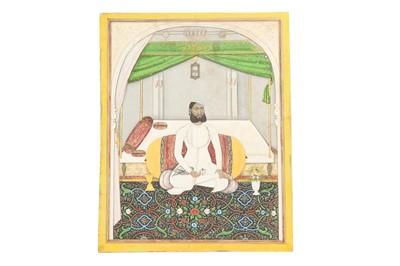Lot 84 - FIVE SEATED PORTRAITS OF SAWAI RAM SINGH II, MAHARAJA OF JAIPUR (R. 1835 - 1880)