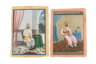 Lot 88 - FOUR SEATED PORTRAITS OF INDIAN RULERS AND NOBLEMEN