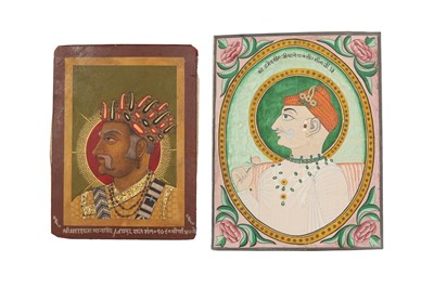 Lot 91 - TWO PROFILE PORTRAITS OF INDIAN RULERS