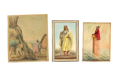 Lot 94 - THREE WATERCOLOURS OF INDIAN SUBJECTS