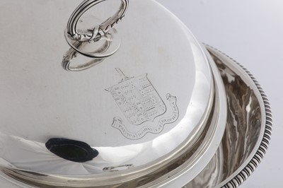Lot 502 - A George III sterling silver breakfast or entrée dish, London 1813 by William Stroud (reg. 7th July 1788)
