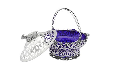 Lot 482 - A Victorian sterling silver swing handled butter dish, London 1845 by George and Charles Thomas Fox