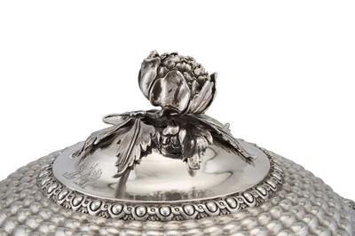 Lot 504 - A fine George IV sterling silver soup tureen, London 1823 by Joseph Craddock