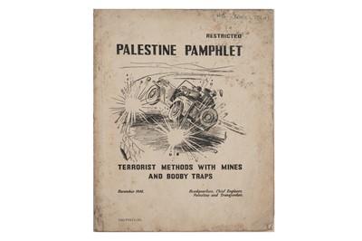 Lot 1538 - British Army Counter-Terrorism — Palestine pamphlet