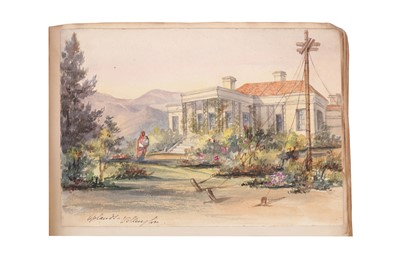 Lot 1626 - Anglo/Indian 19th Century bound album of watercolours and drawings [Smith (Dr. Colvin)]