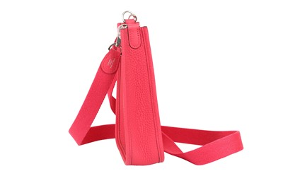 Lot 46 - Hermes Rose Extreme Clemence Evelyn III TPM
