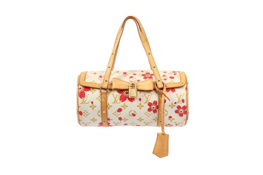 Lot 38 - Louis Vuitton Red Cherry Blossom Monogram Papillon