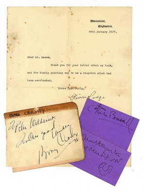 Lot 1033 - Autograph Collection.- Incl Bing Crosby