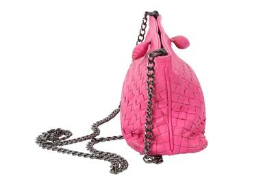 Lot 47 - Bottega Veneta Fuchsia Pink Intrecciato Crossbody Bag