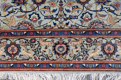 Lot 10 - A FINE KASHAN RUG,  CENTRAL PERSIA
