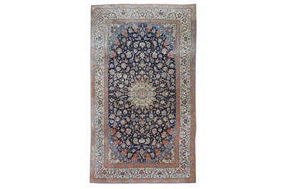 Lot 90 - AN EXTREMELY FINE  PART SILK NAIN CARPET, CENTRAL PERSIA