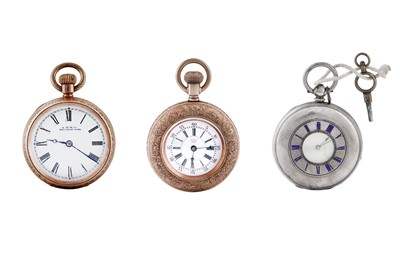 Lot 9 - 3 POCKET WATCHES.