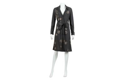 Lot 77 - Lanvin Grey Embellished Belted Dress - Size 38