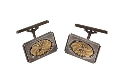 Lot 29 - Henry Pilstrup for Georg Jensen   A pair of silver cufflinks, 1971-72
