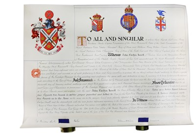 Lot 1519 - Grant of Arms.- John Evelyn Ansell