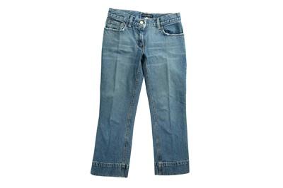 Lot 96 - Dolce & Gabbana Blue Cropped Jeans - Size 40