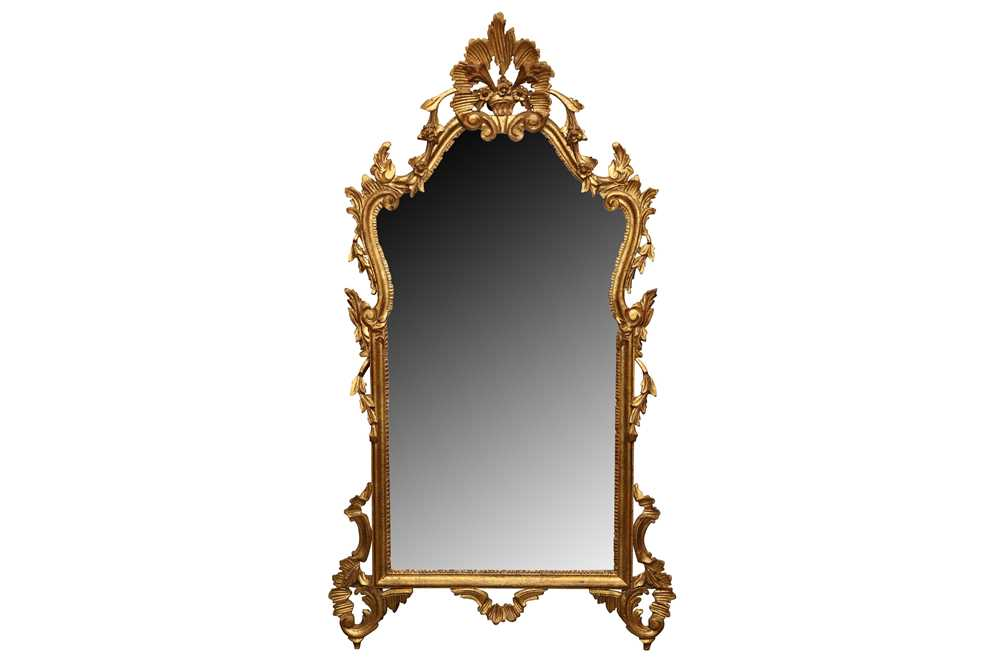 Lot 17 - A 19TH CENTURY STYLE ITALIAN CARVED GILTWOOD PIER MIRROR, CIRCA 1972