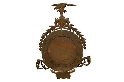 Lot 9 - A REGENCY GILT FRAMED CONVEX GIRONDOLE MIRROR, EARLY 19TH CENTURY