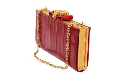 Lot 12 - Christian Louboutin Red Eel Clutch Bag
