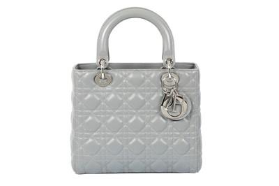 Lot 70 - Christian Dior Grey Lady Dior Medium Bag