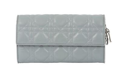 Lot 71 - Christian Dior Grey Lady Dior Wallet on Chain