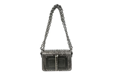 Lot 73 - Tom Ford Grey Metallic Python Natalia Bag