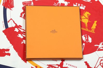 Lot 17 - Hermes 'Jeux D'Ombres' Elastic Fluid Silk Jersey Scarf