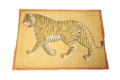 Lot 229 - A LARGE CLOTH PAINTING OF A TIGER