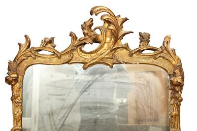 Lot 2 - A ROCOCO REVIVAL GILT PIER MIRROR, 19TH CENTURY