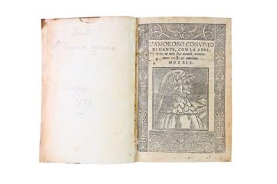 Lot 1503 - Dante (Alighieri): L'Amorosa Convivio di Dante. 1529