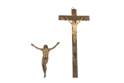 Lot 46 - TWO 18TH CENTURY FRENCH POLYCHROME CORPUS CHRISTI
