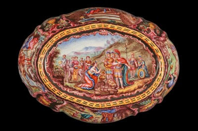 Lot 30 - A LATE 19TH CENTURY VIENNESE ENAMEL BOWL
