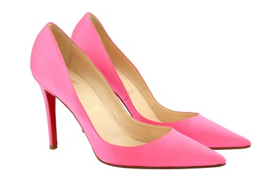 Lot 54 - Christian Louboutin Neon Pink Heeled Pump - Size 41